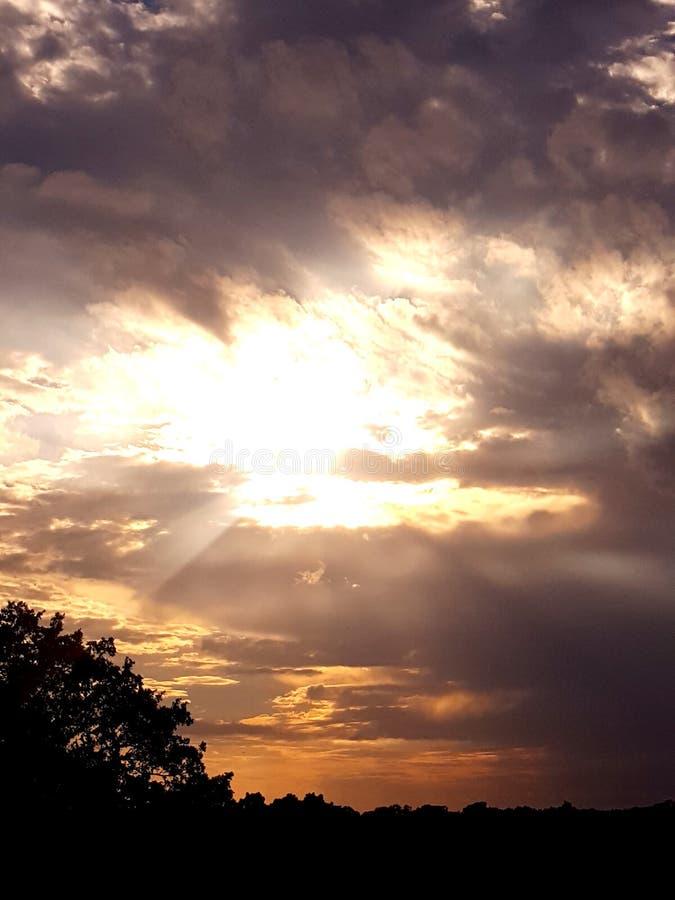 burzliwe słońca zdjęcie royalty free