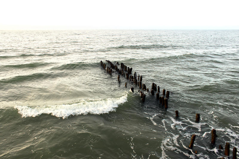 Burzowa ciemna morza bałtyckiego tła fotografia obrazy stock