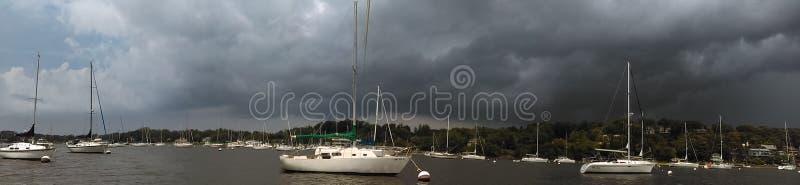 Burzowi łódkowaci dni zdjęcie royalty free