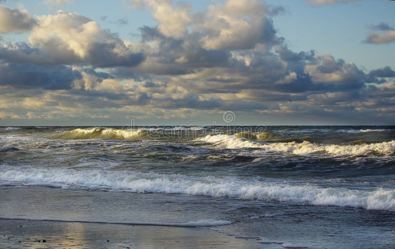 Burzowy morze zdjęcia royalty free