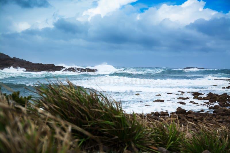 Burzowy ocean i władza natura obraz stock