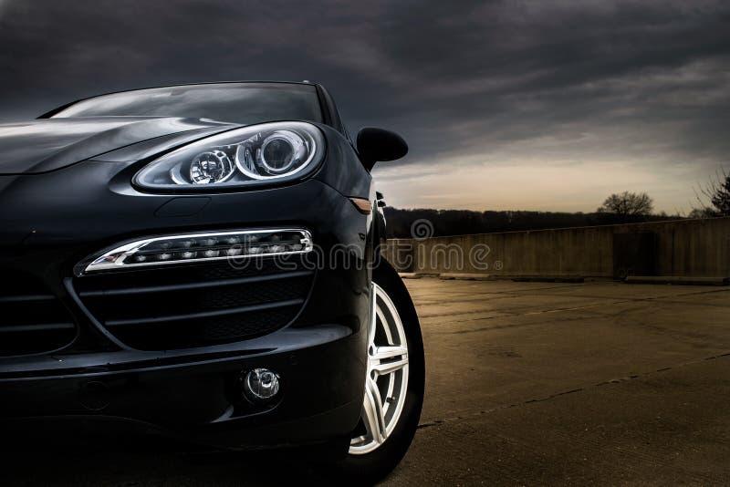 Burzowy Porsche fotografia stock