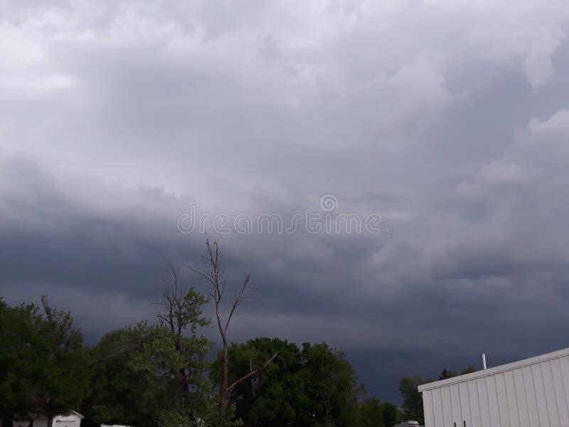 Burzy chmury ashland Missouri zdjęcia royalty free