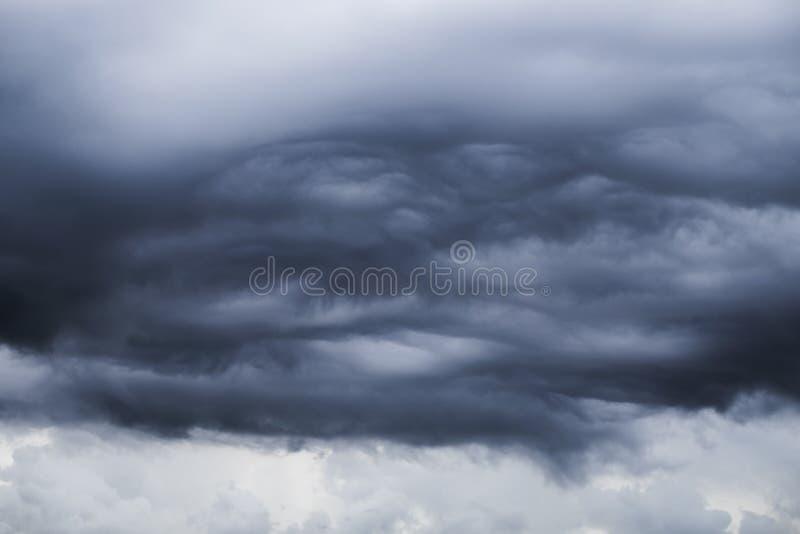 Burzy czarnej chmury inkorporacja zdjęcie stock