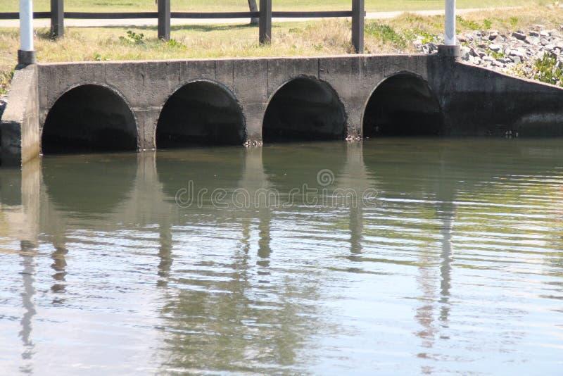 Burzy wody odciek obrazy stock