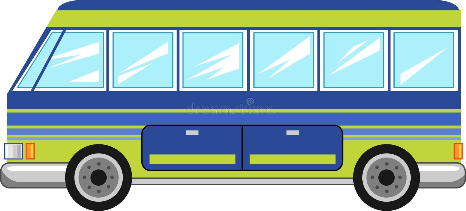 Bus royalty free illustration