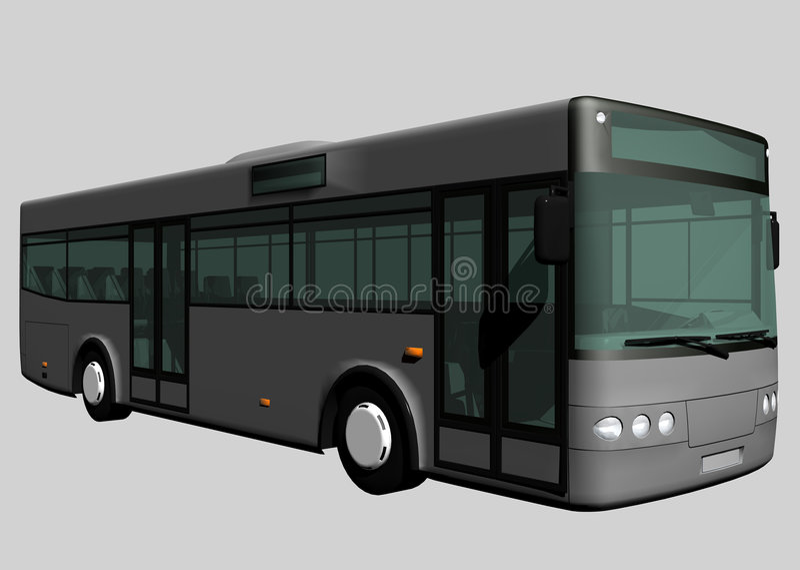 Bus royalty-vrije illustratie