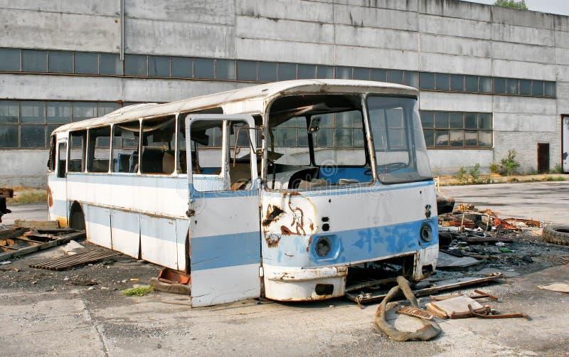 Bus abbandonato fotografia stock