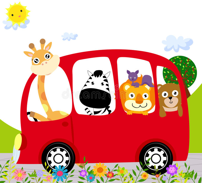 Bus animale royalty illustrazione gratis
