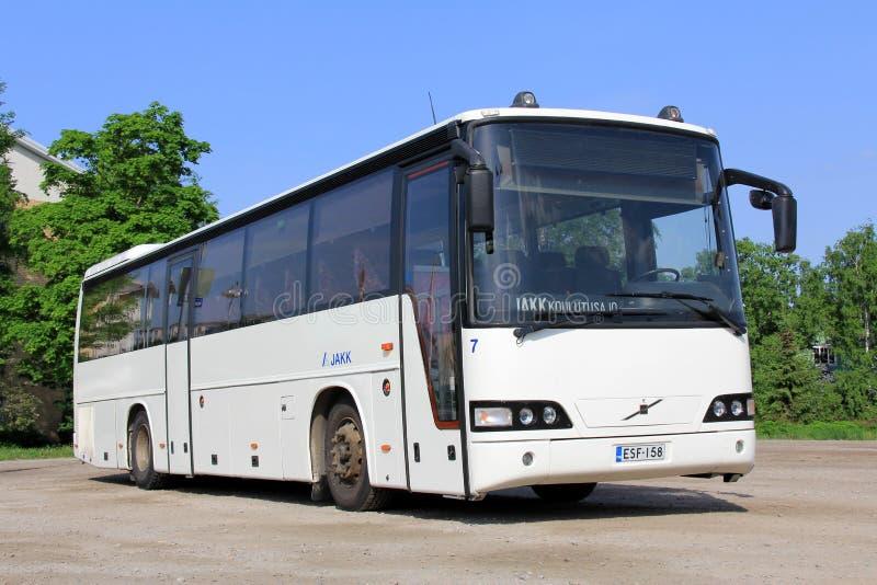 Bus bianco della città di Volvo fotografie stock