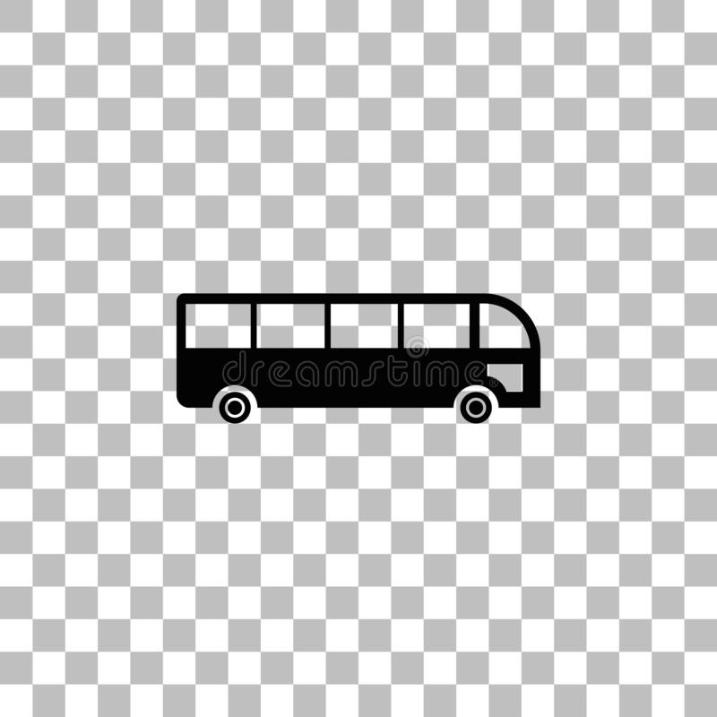 Bus icon flat vector illustration