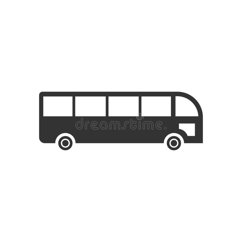 Bus icon flat royalty free illustration
