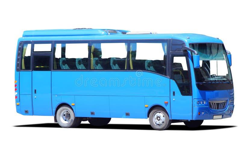 Bus bleu image libre de droits