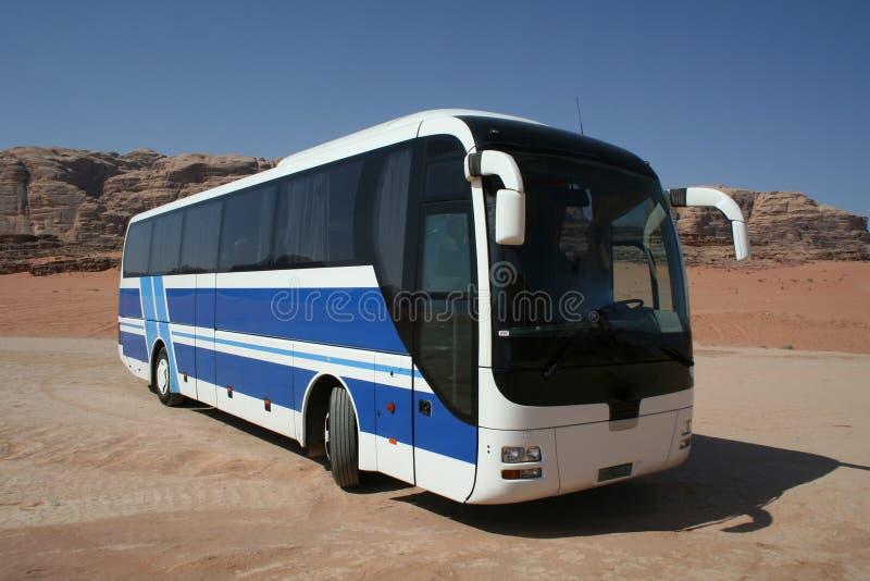 Bus bleu images stock