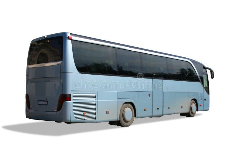 Bus blu immagini stock