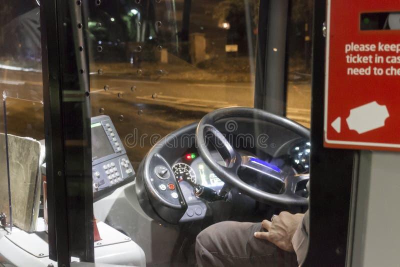 Bus cab royalty free stock photos