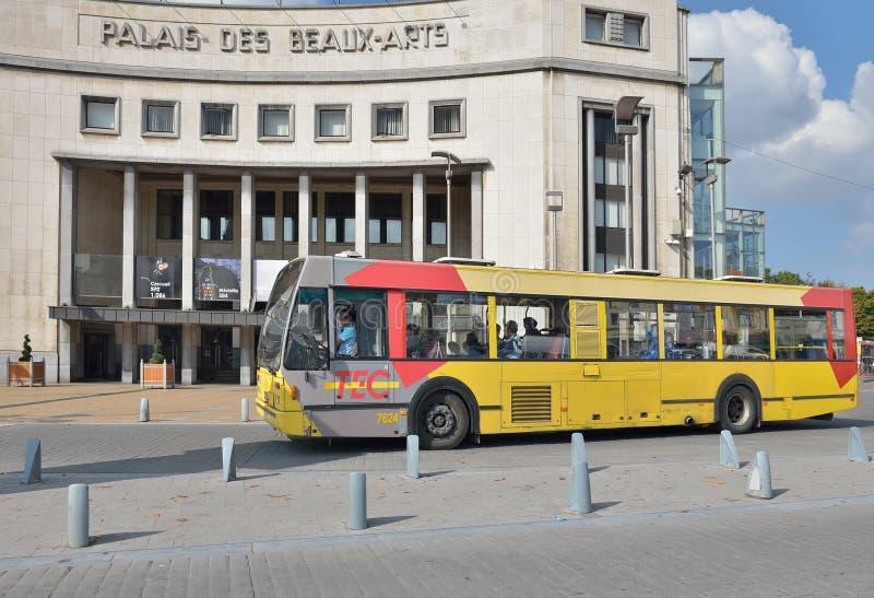 Bus in Charleroi, België royalty-vrije stock foto