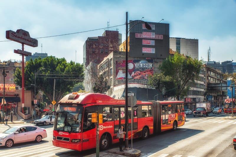Bus a Città del Messico fotografia stock libera da diritti