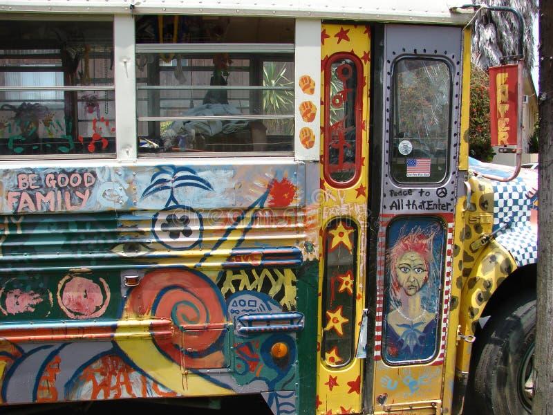 Bus coloré de Hippie photographie stock