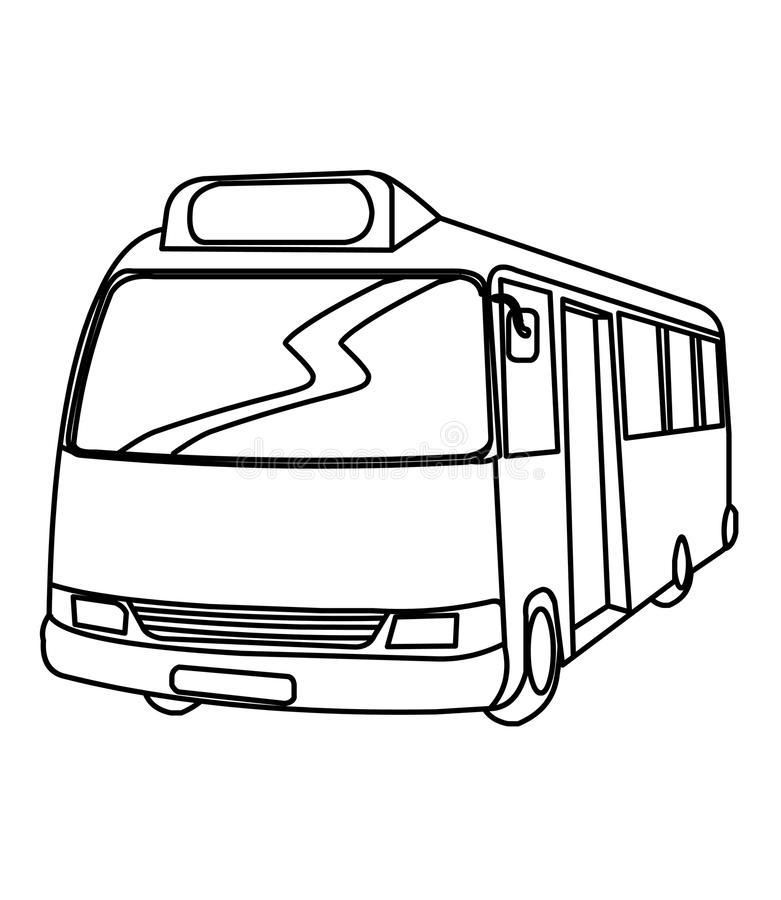 Download Bus Coloring Page Stock Illustration Of