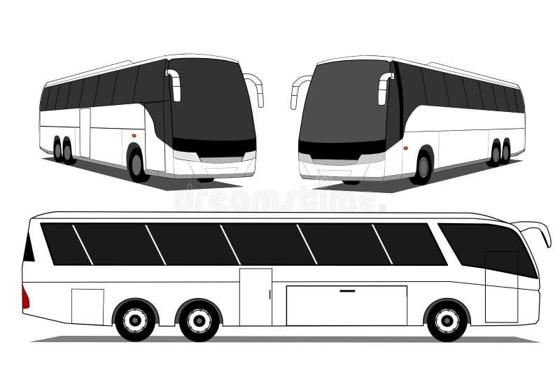 Bus d'entraîneur   illustration libre de droits