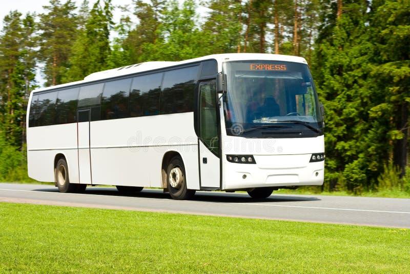 Bus d'excursion blanc images libres de droits