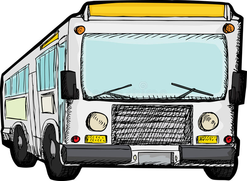 Bus de passage public illustration de vecteur