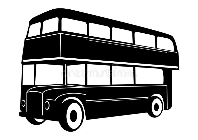 Bus de rouge de double pont de Londres illustration libre de droits
