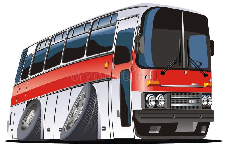 Bus de touristes de dessin animé de vecteur illustration libre de droits