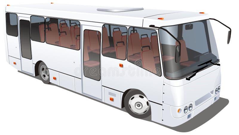 Bus de ville de vecteur d'isolement illustration libre de droits