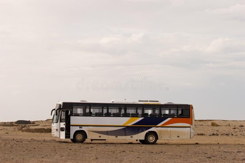 Bus del deserto fotografia stock libera da diritti