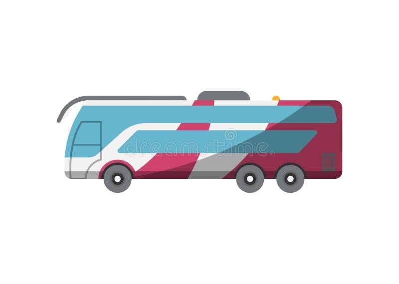 Bus del passeggero per l'icona piana di imbarco royalty illustrazione gratis