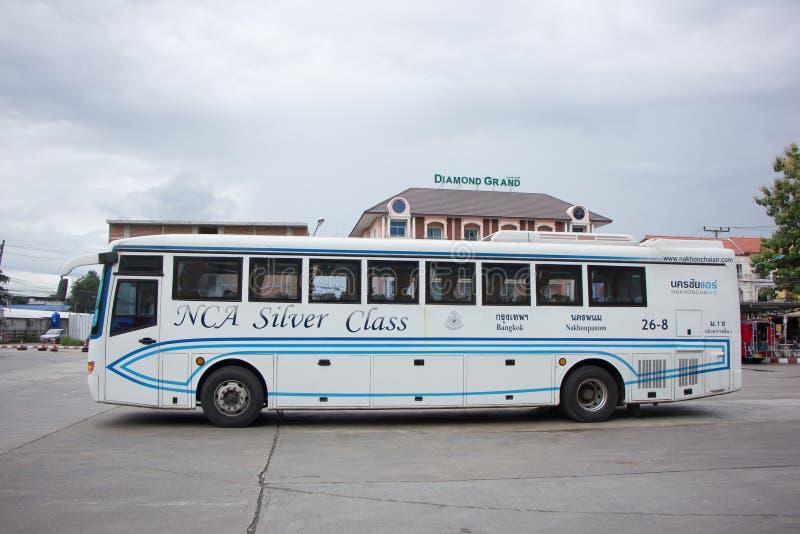 Bus dell'aria di Nakhonchai Itinerario Bangkok e Nakhonpanom fotografie stock libere da diritti