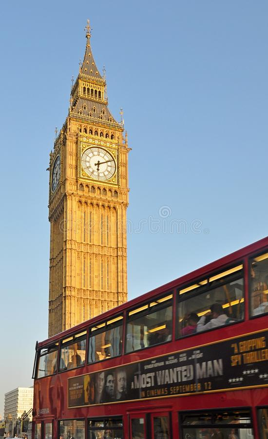 Bus di Londra e di Big Ben, Londra fotografie stock