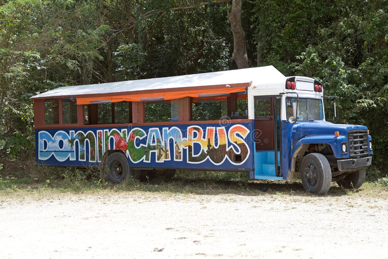 Bus domenicano immagine stock libera da diritti