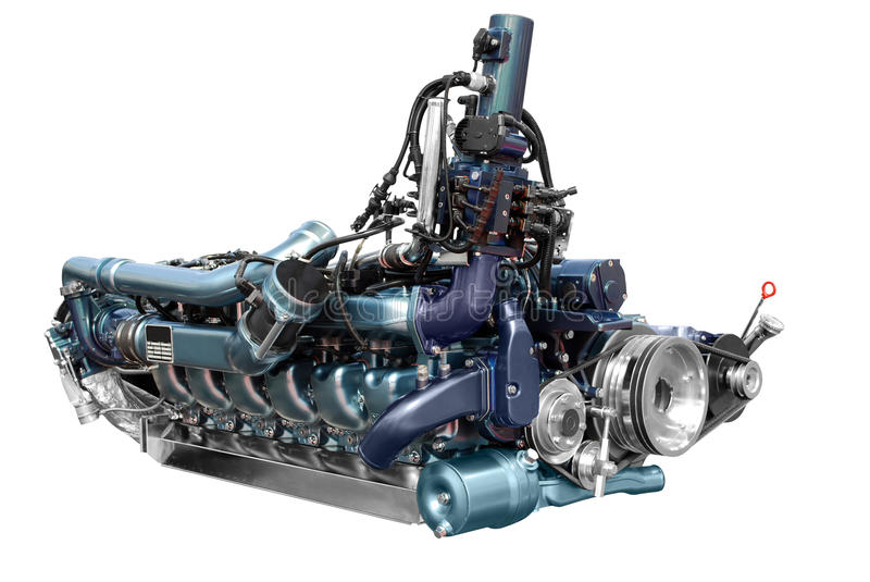 Bus engine royalty free stock photography