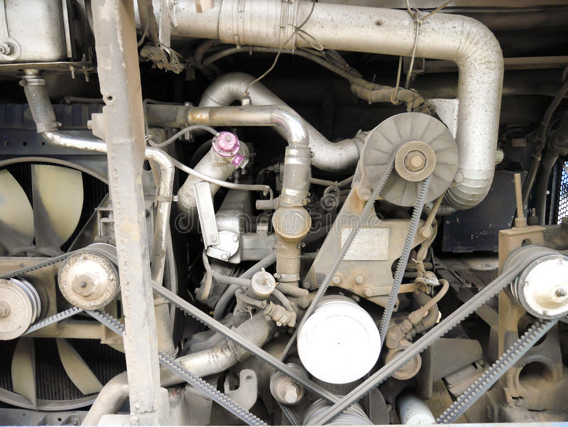 Bus engine royalty free stock images