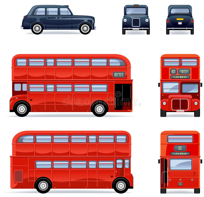 bus et taxi de londres photo stock image 25095790. Black Bedroom Furniture Sets. Home Design Ideas