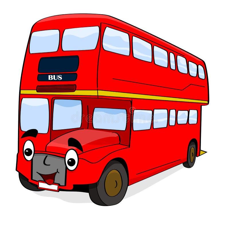 Bus felice del fumetto royalty illustrazione gratis