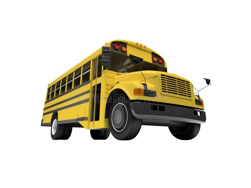 Bus giallo del banco isolato sopra bianco royalty illustrazione gratis