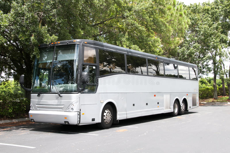 Bus grigio immagini stock