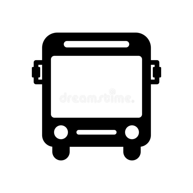 Bus icon flat vector illustration design stock illustration