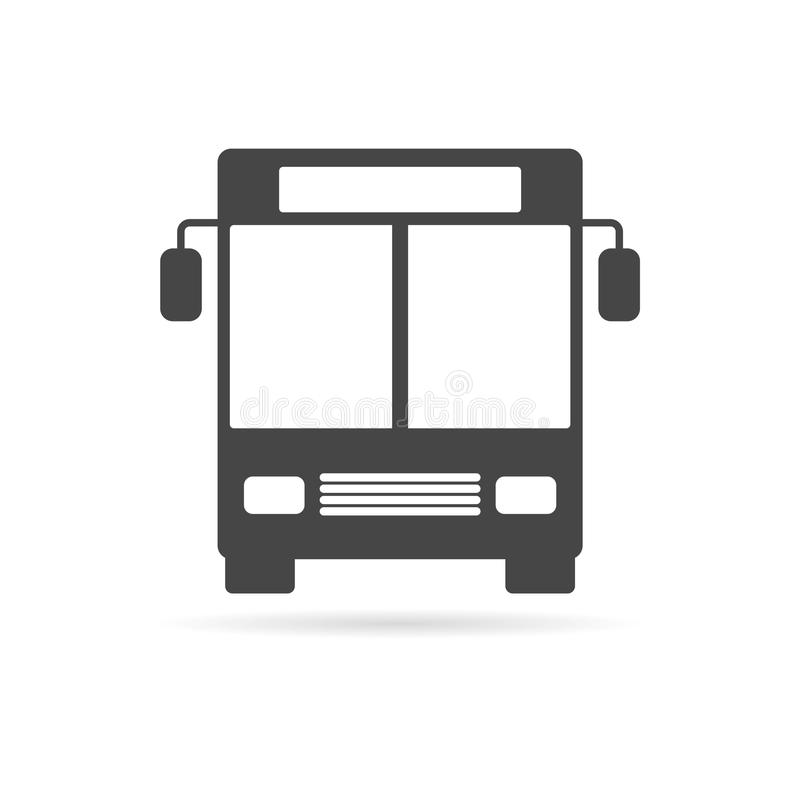 Bus icon. Simple vector icon royalty free illustration