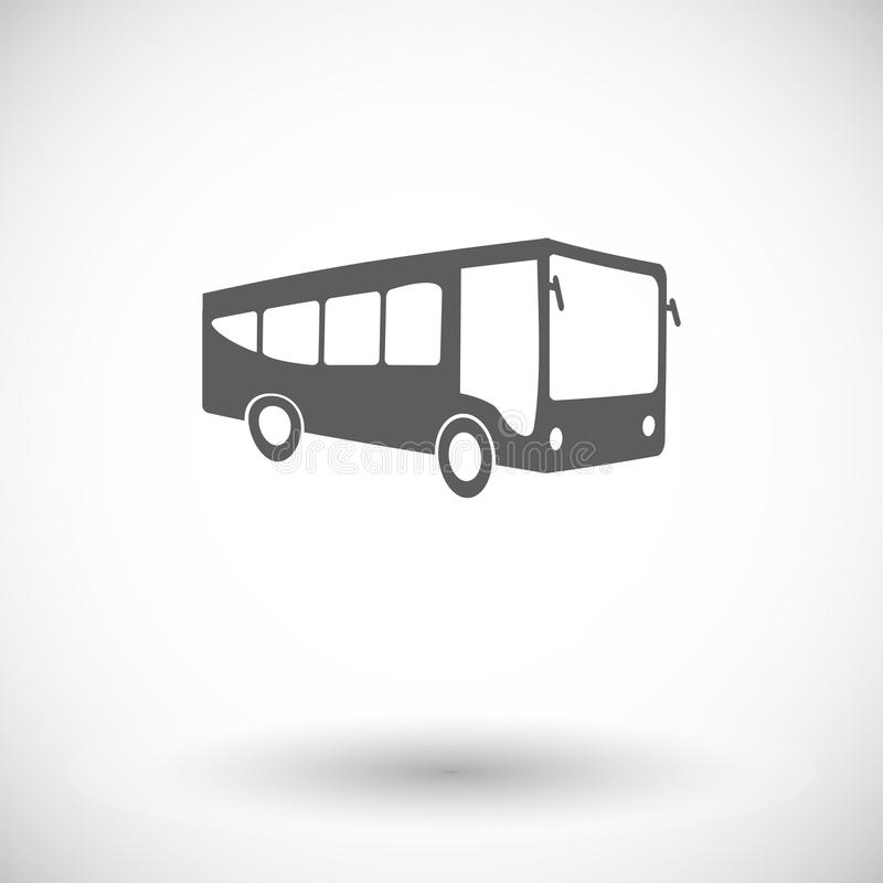 Bus icon. Bus. Single flat icon on white background. Vector illustration vector illustration