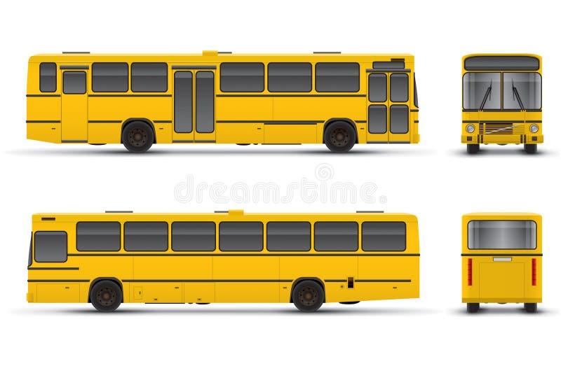 Bus jaune illustration de vecteur