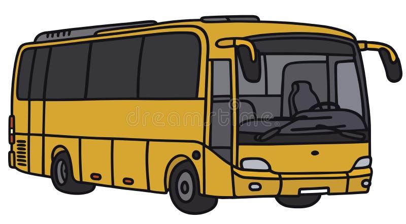 Bus jaune illustration stock