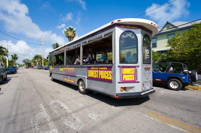 Bus in Key West stock foto