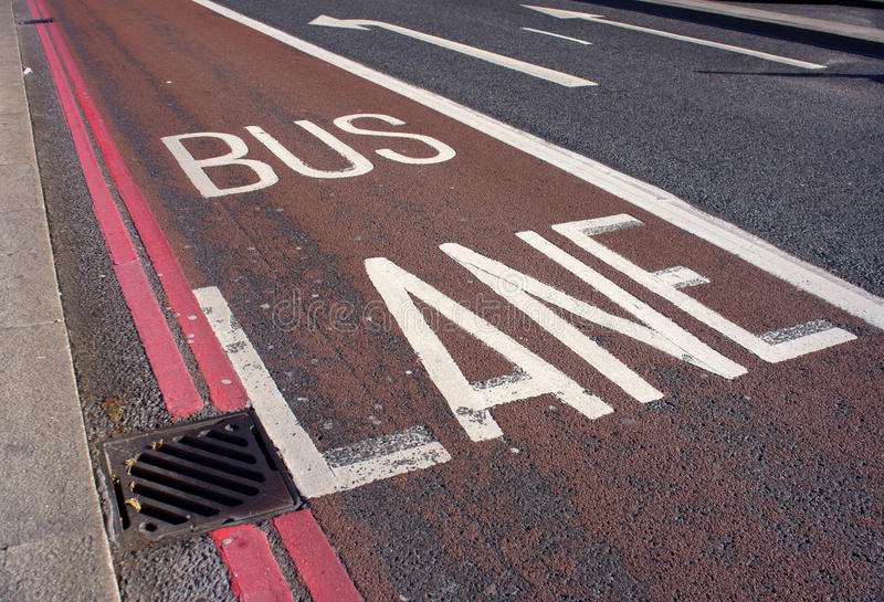 Download Bus lane stock photo. Image of sign, travel, transport - 26863770