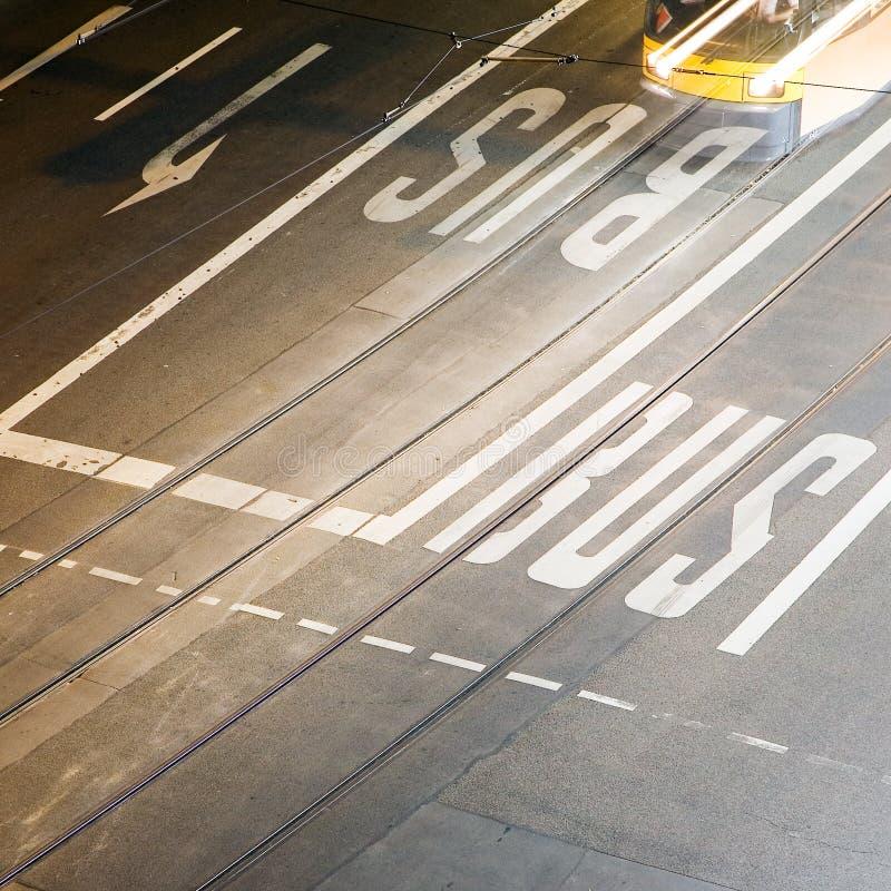 Download Bus lane stock image. Image of movement, motion, rails - 8757001
