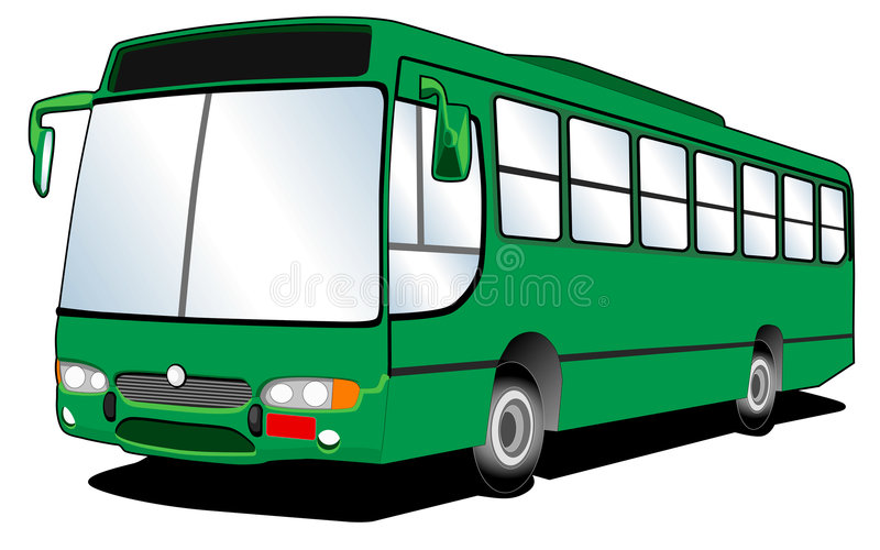 Bus Line Art 02 royalty free illustration